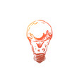 water in light bulb close up vector image vector image