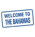 welcome to The Bahamas blue grunge square stamp vector image vector image