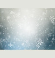 winter christmas background with snowflakes vector image