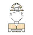 Worker profile cartoon