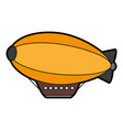 zeppelin balloon icon image vector image