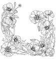 field poppies Spring Pattern vector image