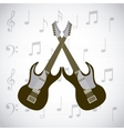 electric guitars icons vector image
