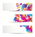 Abstract arc-drop banners vector image vector image