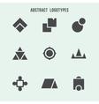 Abstract geometric logo set vector image