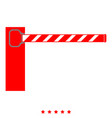 barrier icon color fill style vector image vector image