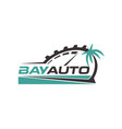 bay automotive logo design symbol vector image vector image