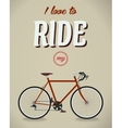 Bicycle sign Beatles album Famous song Flat vector image vector image