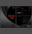 black leaflet template with bent squared strips vector image