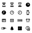 black time icon set vector image vector image