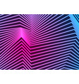 blue ultraviolet neon curved lines refraction vector image