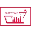 bottle wineglass - party symbol vector image vector image