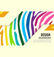 bright colourful horizontal abstract wallpaper vector image vector image