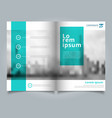 brochure layout design template annual report vector image vector image