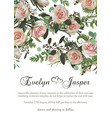 card floral design with green watercolor vector image vector image