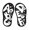 children shoes alphabet vector image
