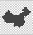 china map grey on isolated background vector image vector image