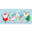 Christmas Santa Claus Laugh Ho Ho Ho with Friends vector image vector image