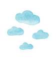cloud watercolor design elements vector image vector image
