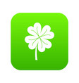 clover leaf icon digital green vector image