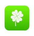 clover leaf icon digital green vector image vector image