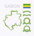 Colors of Gabon vector image vector image