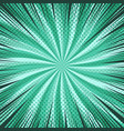 comic abstract green burst background vector image