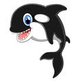 Cute killer whale cartoon vector image vector image