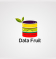 data fruit logo icon element and template vector image