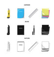 design of office and supply symbol set of vector image