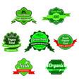 farm market logo natural organic organic products vector image vector image