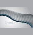 flowing energy particles wave of blurred dots vector image vector image