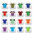 football jerseys buttons set colour vector image