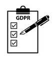 general data protection regulation gdpr ready vector image vector image