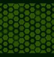 green hexagon stones on black seamless geometric vector image vector image