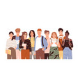 group diverse modern students or classmates vector image vector image