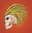Hand Drawn Skull Sketch vector image vector image