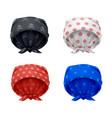 head bandana colourful set vector image vector image