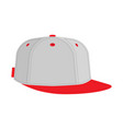 hip hop or rapper baseball cap vector image vector image