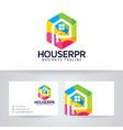 house repair logo design vector image vector image