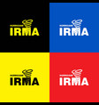 hurricane irma banner colorful set vector image