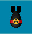 icon in flat style design rocket bomb flies down vector image vector image
