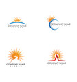 icon logo template sun over horizon vector image vector image