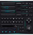 Interface elements set vector image