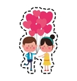 kawaii couple in love vector image vector image