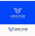 line art m letter company logo icon design vector image