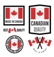 Made in Canada label set national flag vector image vector image
