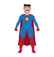 male superhero cartoon character vector image vector image