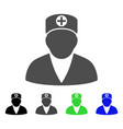 medic person flat icon vector image vector image