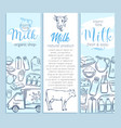 milk product banners template vector image